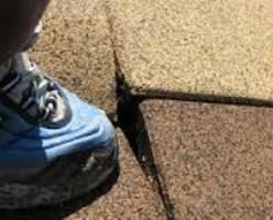 tripping hazard example -uneven edges