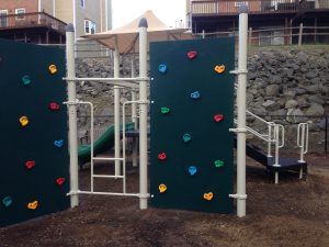 playground rock climber wall