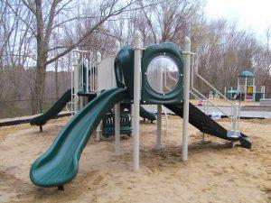 slides on a playground