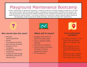 Playground Maintenance Bootcamp Infographic